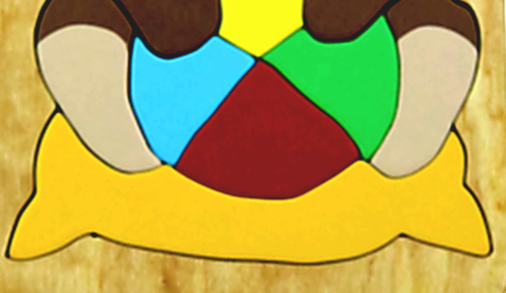 Holzpuzzle brauner Bär