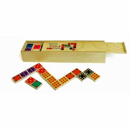 Domino Zahlen von in Holzbox von Karthaus