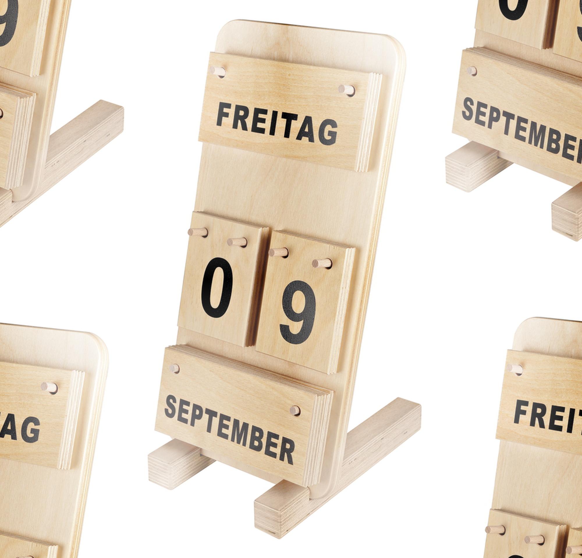 Mini Kalender aus Holz (DE)
